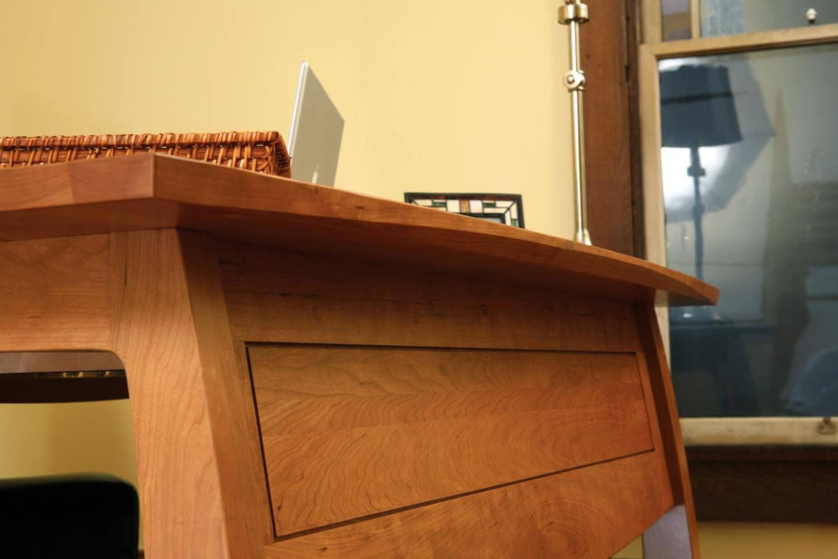 Front of desk detail