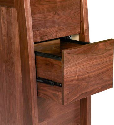 Watkins Glen 4-Drawer File open detail