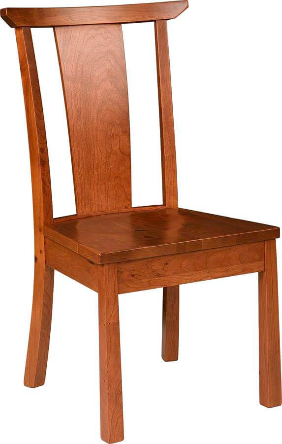 Watkins Glen Side Chair with wooden seat