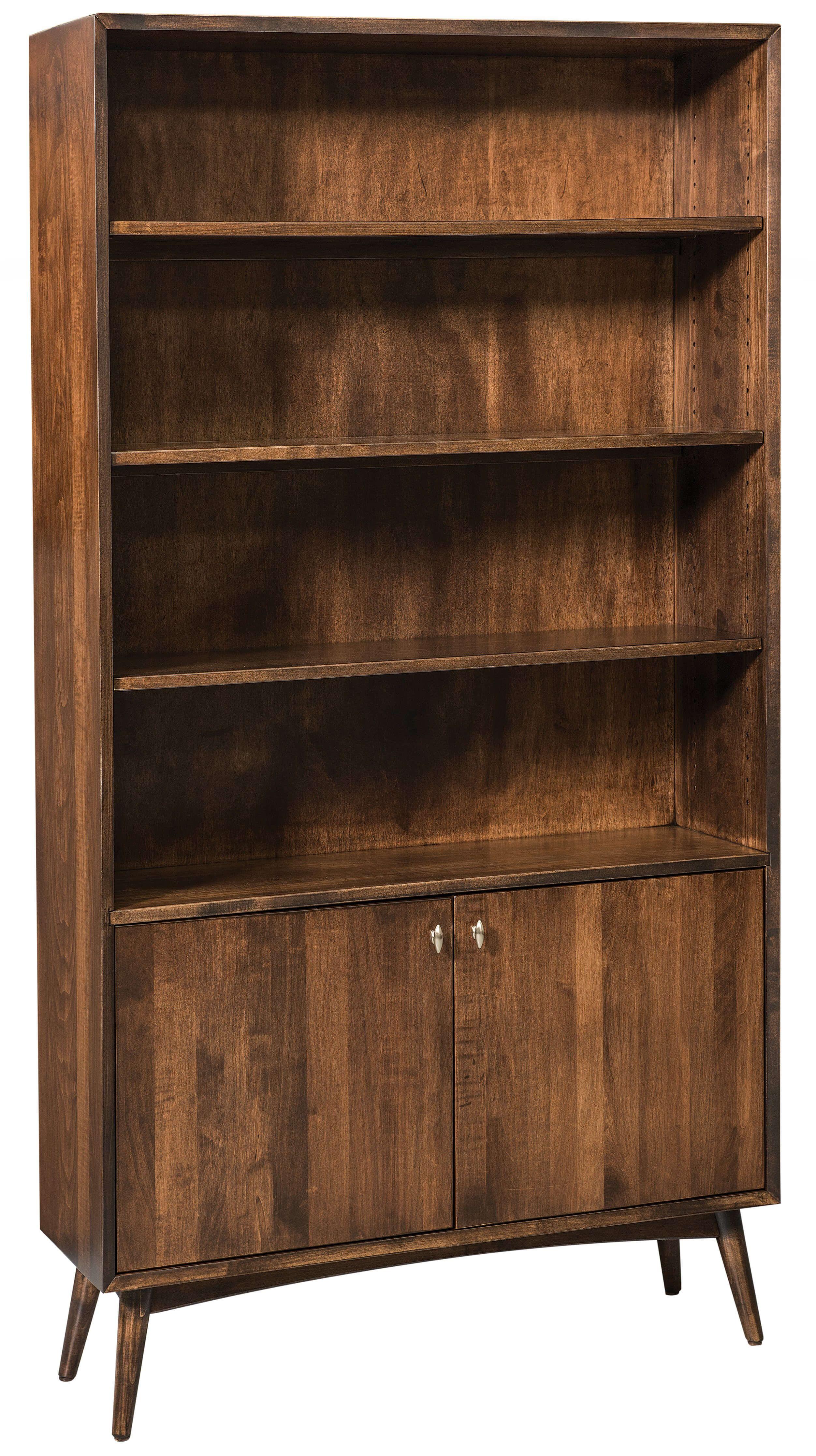 Mid Century Style Storage Bookshelf. Draper Storage Bookcase