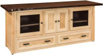Lehigh Live Edge Media Cabinet