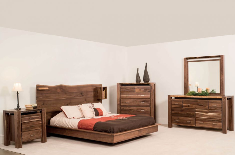 Phoenix Live Edge Bedroom Set image 1
