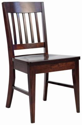 Kosta Amish Handmade Side Chair in Winter Bark over Brown Maple