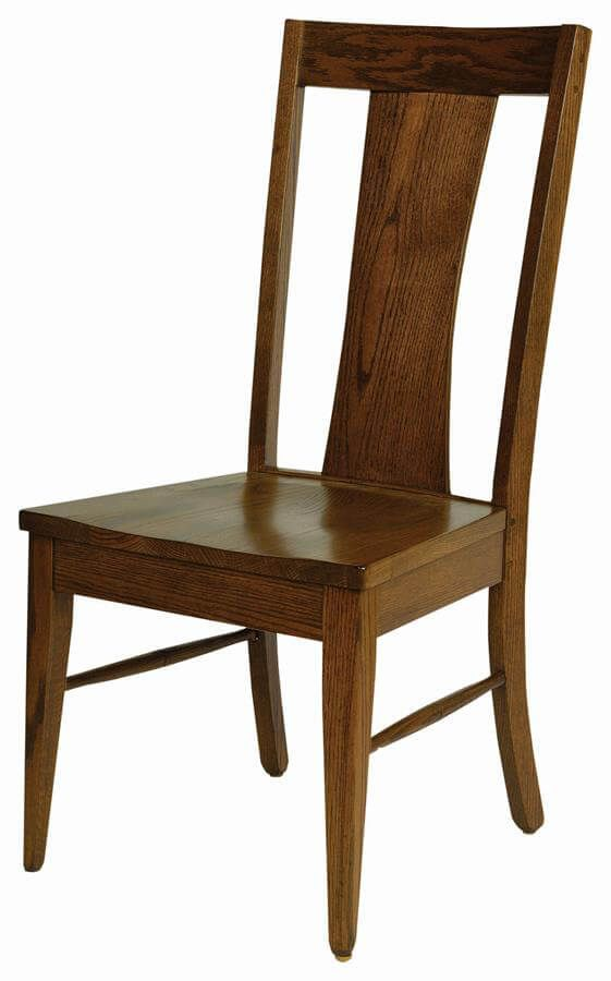 Lucy Solid Wood Side Chair in Oak with Southern Pecan stain