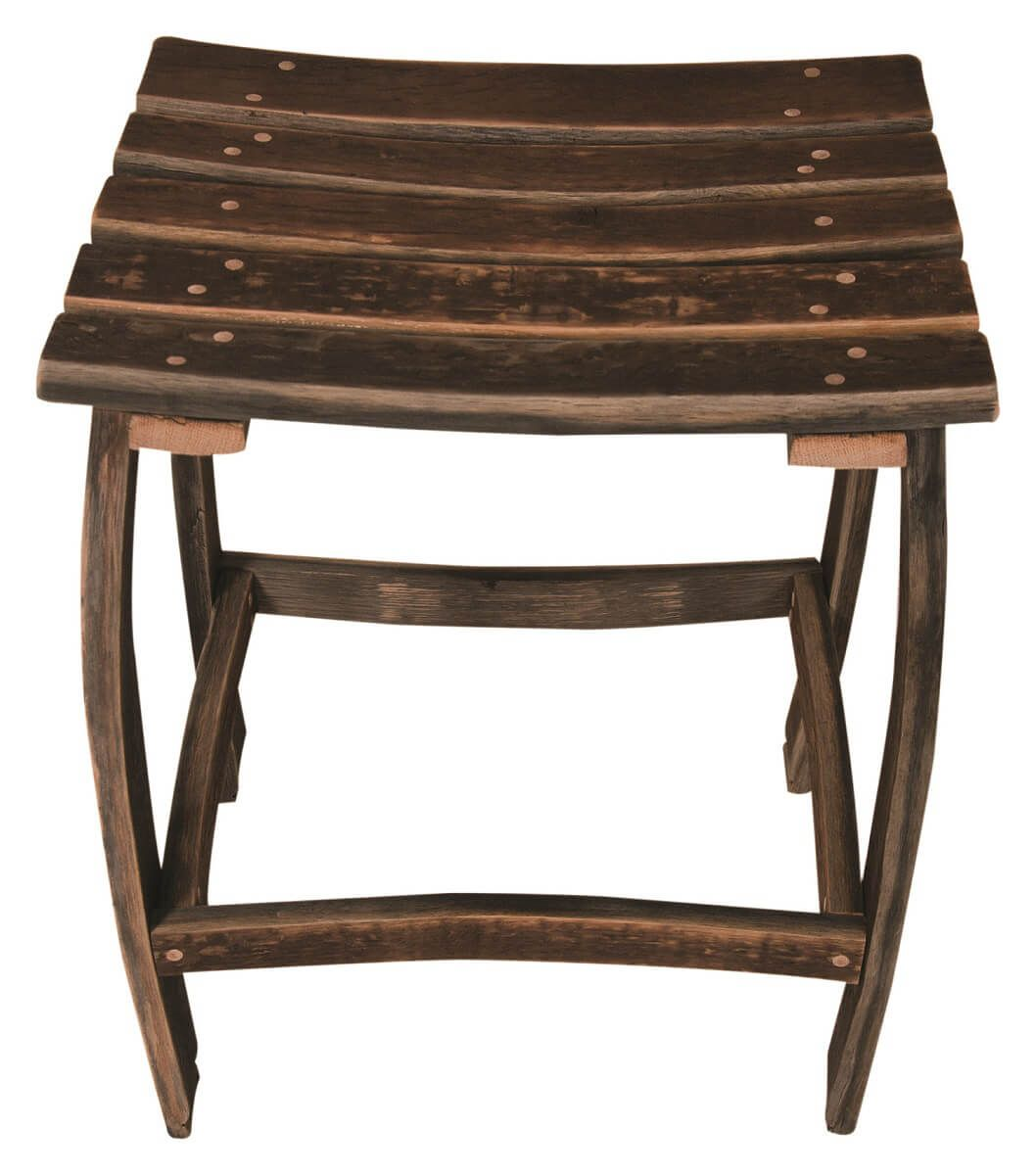 San Pedro Barrel Counter Stool Top View