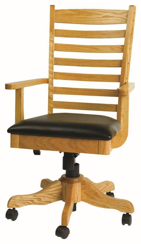 Shown in Oak with black leather
