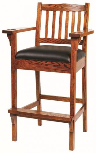 True to Mission style our Noah Spectator Chair is a slight variation on the traditional pub or bar stool Intended for use around your billiards table or