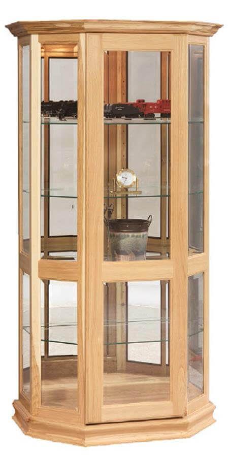 Driftwood Glass Curio Cabinet