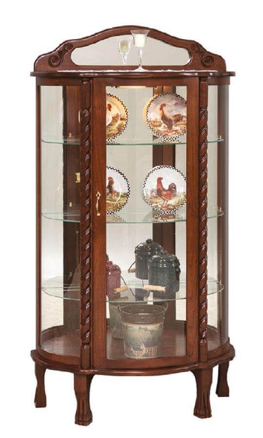 Imperial Hardwood Curio Cabinet