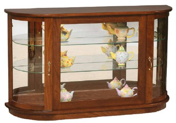 Winchester Console Curio Cabinet Countryside Amish Furniture