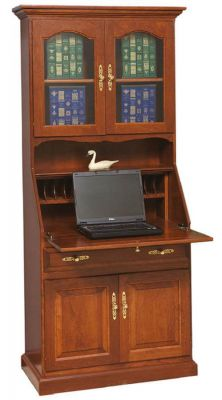 Florence Secretary Desk shown in Oak