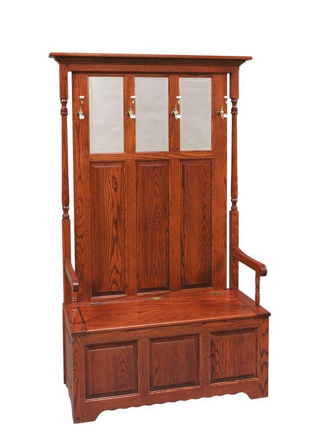 Gettysburg Hall Seat in Oak