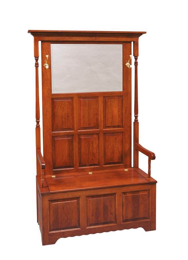 Shiloh Hall Seat in Cherry