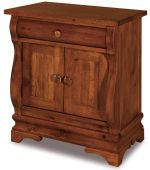 Milwaukee Sleigh 2-Door Nightstand