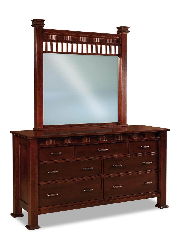 Tuskegee Low Mirror Dresser