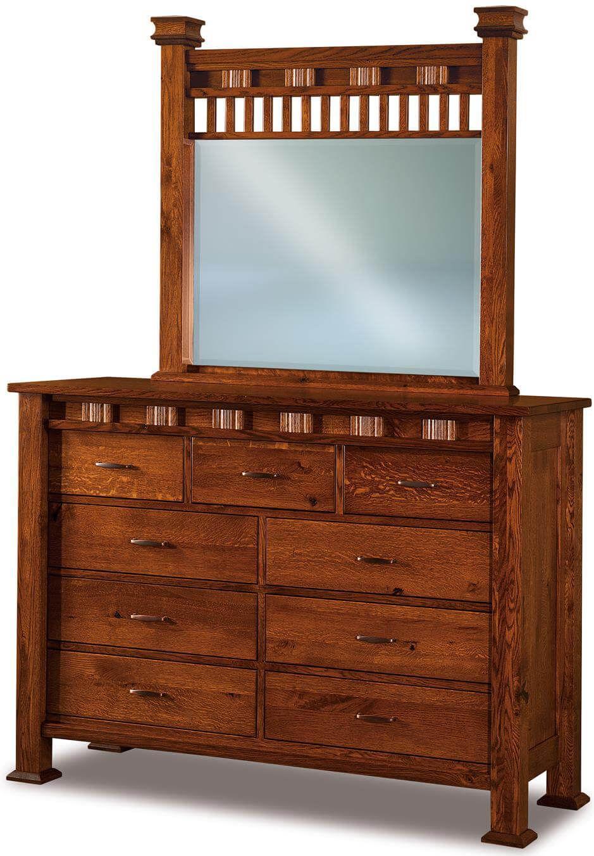 Tuskegee Tall Mirrored Dresser