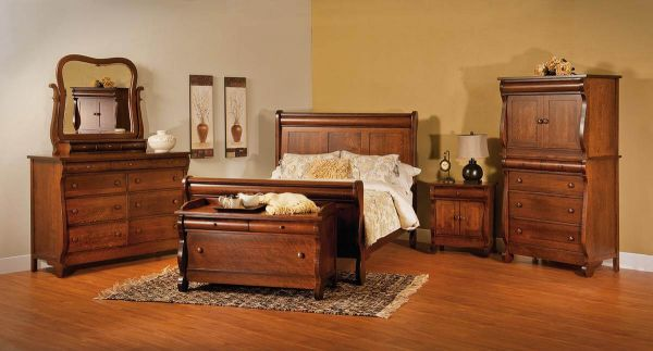 Victoria Sleigh Bedroom Set