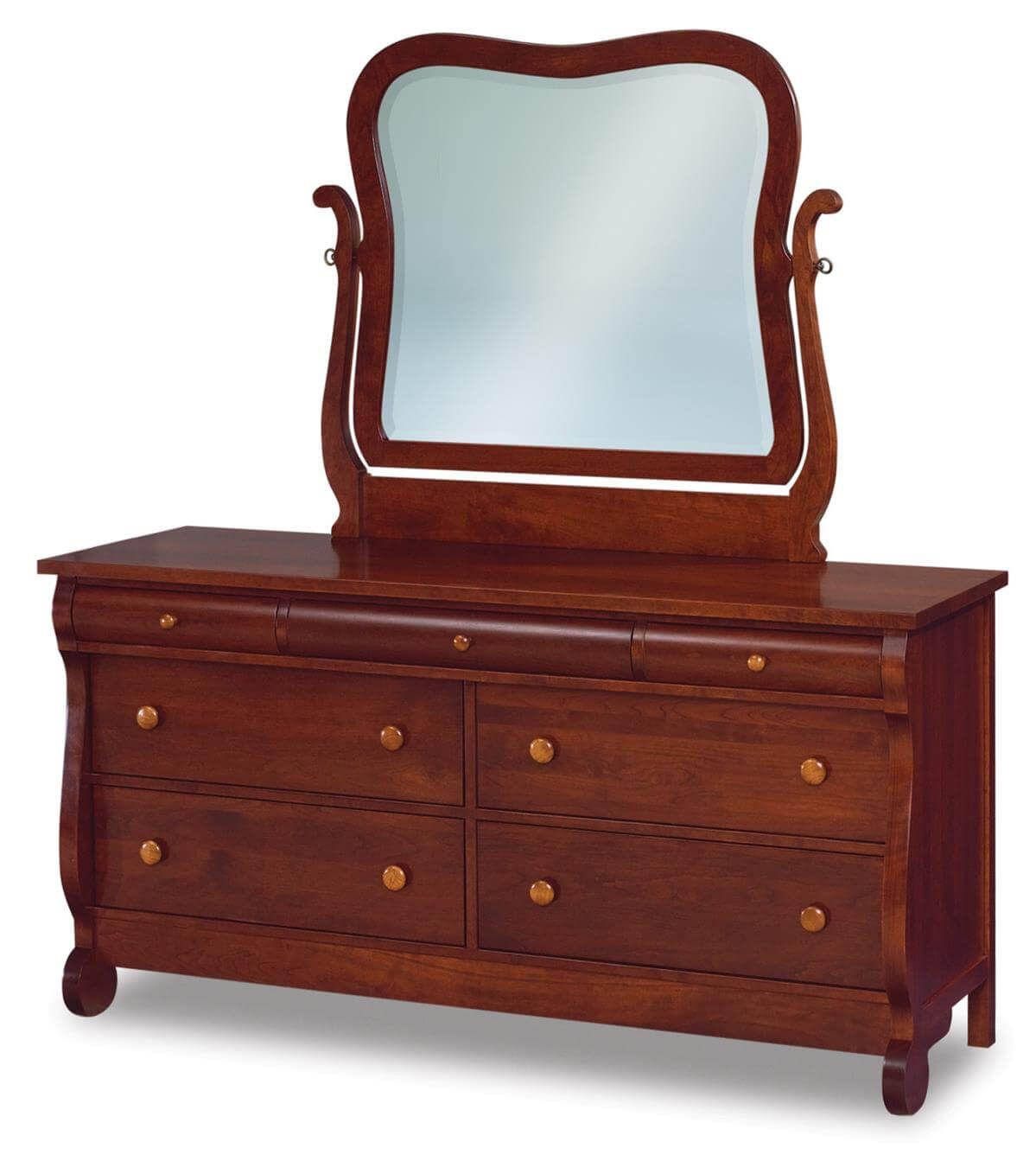 Victoria Sleigh Low Mirror Dresser