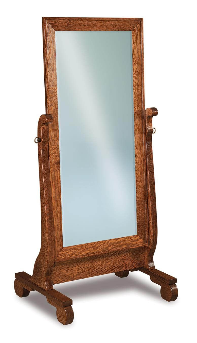 Victoria Sleigh Cheval Stand Up Mirror - Countryside Amish Furniture