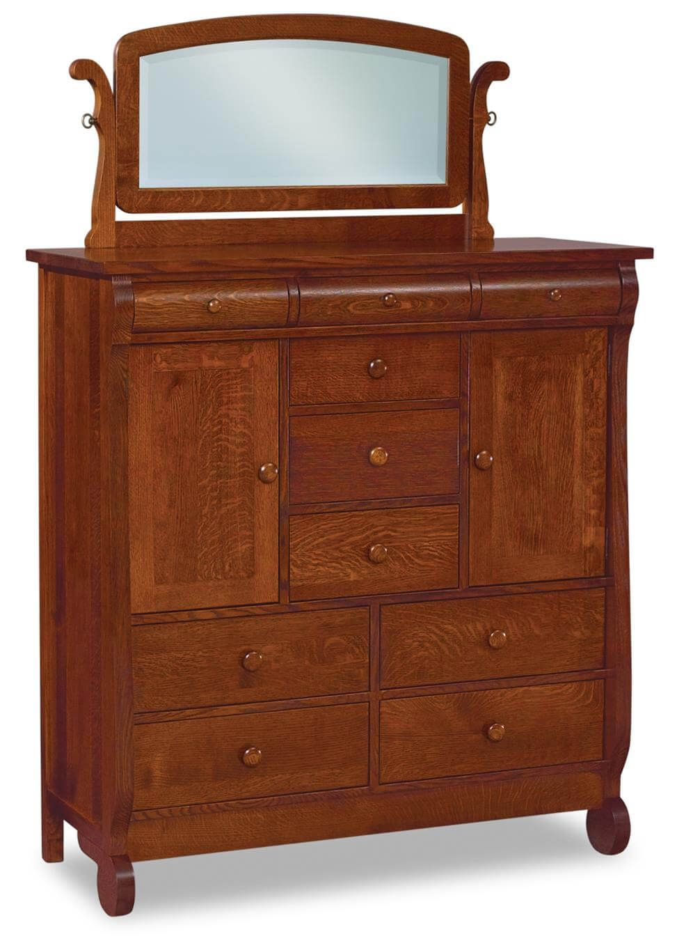 Victoria Sleigh Bedroom Chest with Mirror