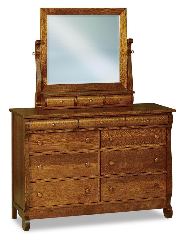 Victoria Sleigh Mule Dresser with Mirror