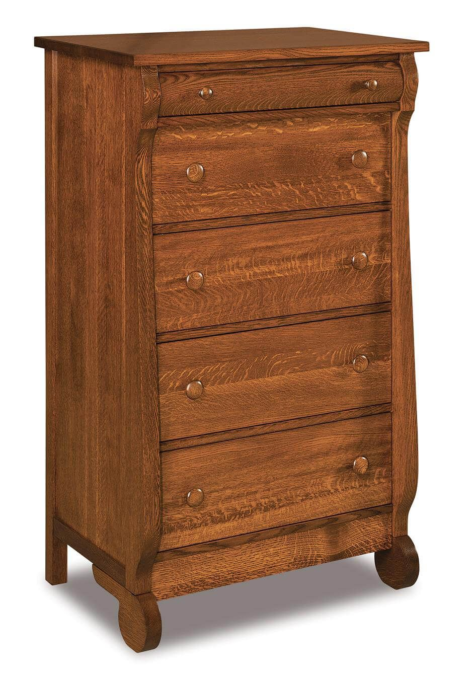 Victoria Sleigh 5-Drawer Chest