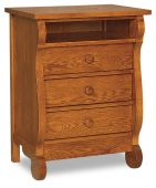 Victoria Sleigh Nightstand with Opening