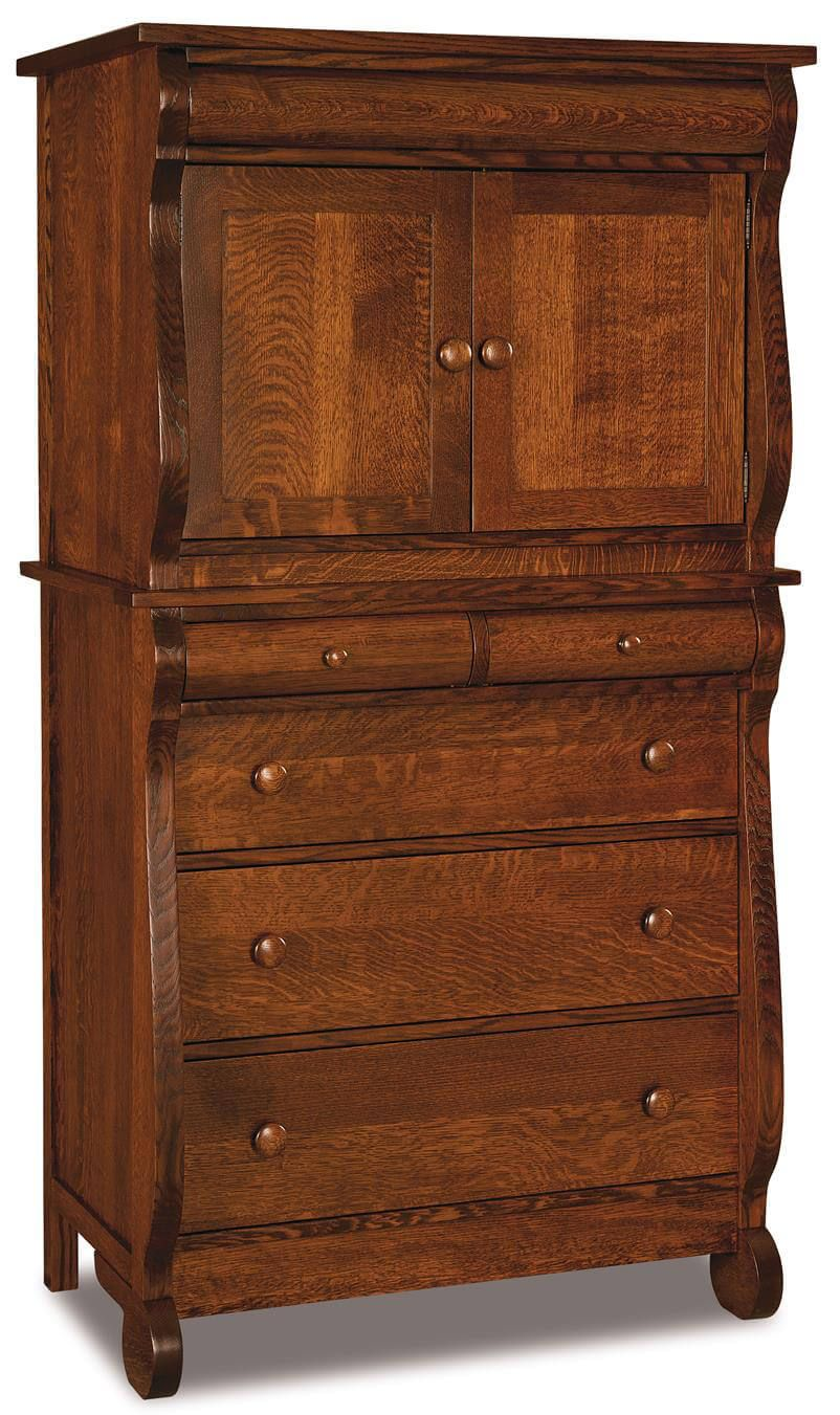 Victoria Sleigh Chest Armoire