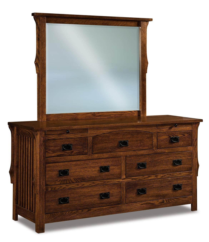 Almeda Low Mirror Dresser