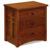 Alpine 3-Drawer Nightstand