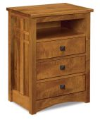 Alpine Nightstand with Opening