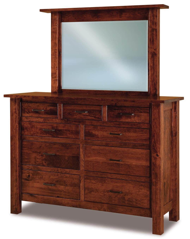 Harper Tall Mirrored Dresser