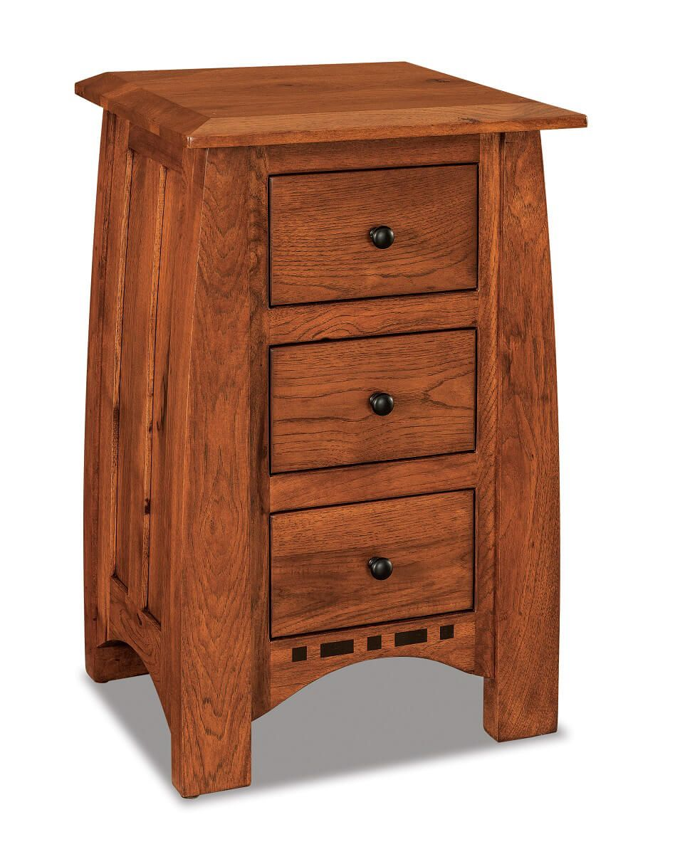 Castle Rock 3-Drawer Small Nightstand