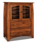 Castle Rock Glass Door Gentleman's Chest