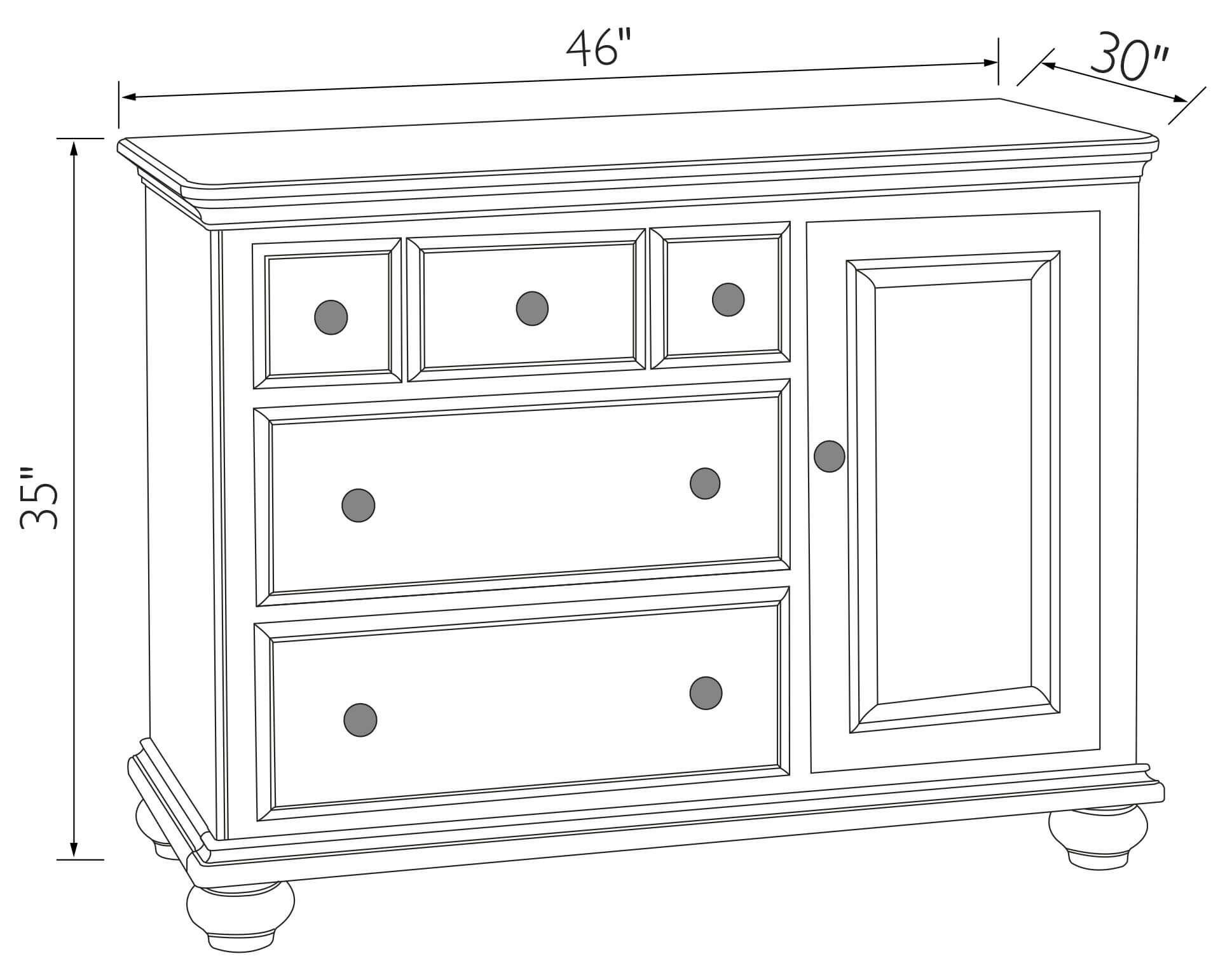 Caroline Door Dresser opened