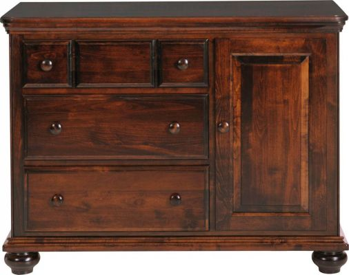 Caroline Door Dresser in Brown Maple with Cafe Americano stain