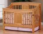 Denbigh Slat Crib in Oak with our Sanibel stain