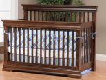 French Country Crib in Oak with Devonshire