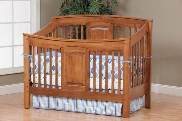 Prestige Crib in Brown Maple with our Spiced Apple finish