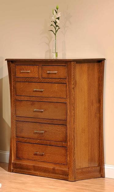 Rosewood Chest of Drawers in Brown Maple with Spiced Apple finish
