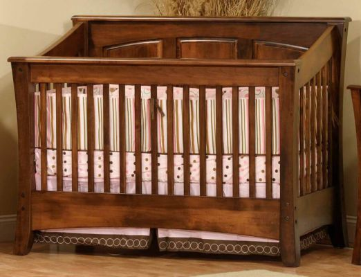 Rosewood Solid Wood Crib Countryside Amish Furniture