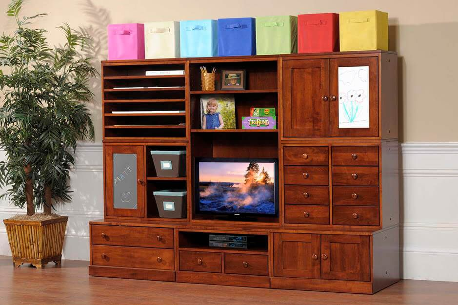 Geneva Panel Crib Nursery Collection in Brown Maple and Venezuelan Chocolate