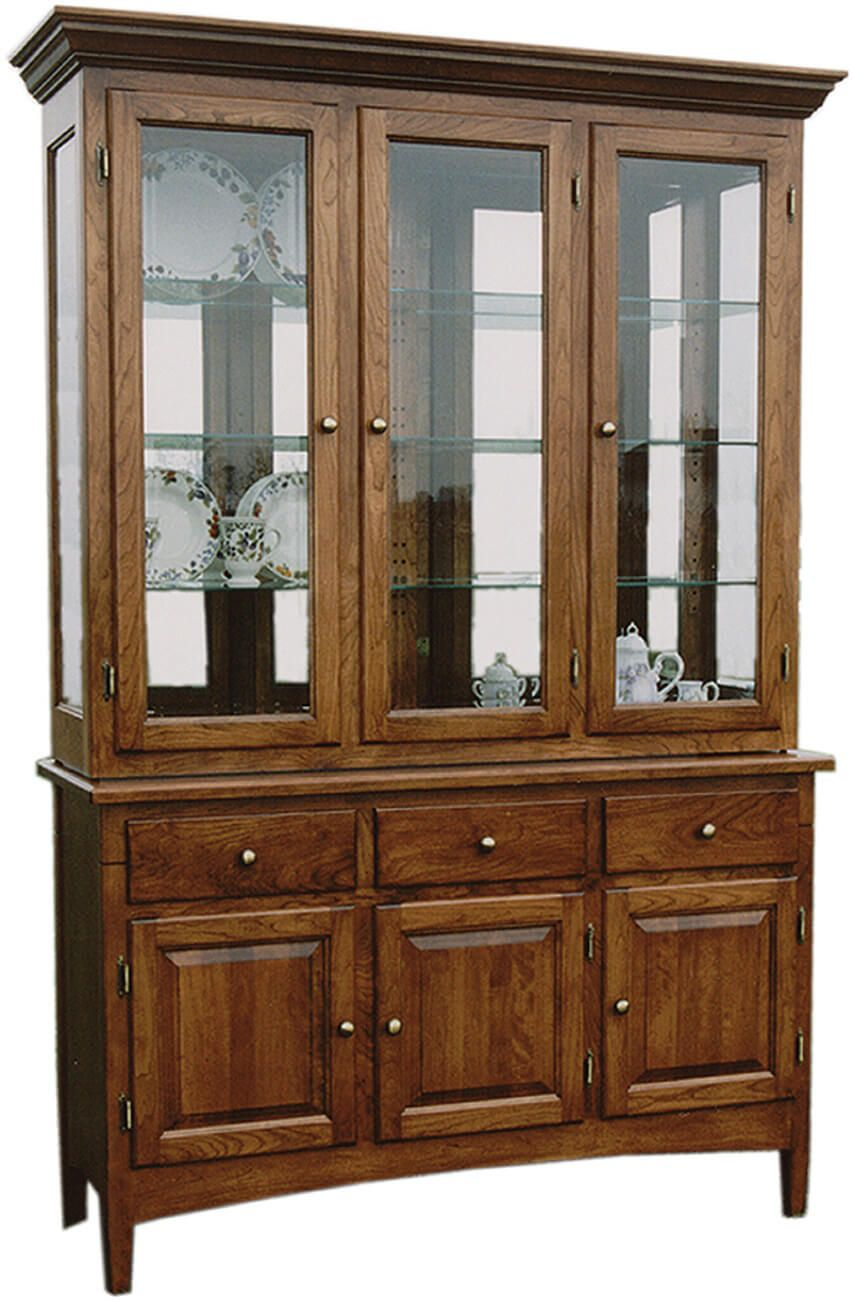 medina modern china cabinet hutch countryside amish. Black Bedroom Furniture Sets. Home Design Ideas