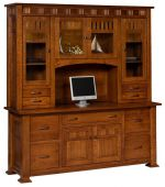 Annapolis Office Credenza with Hutch