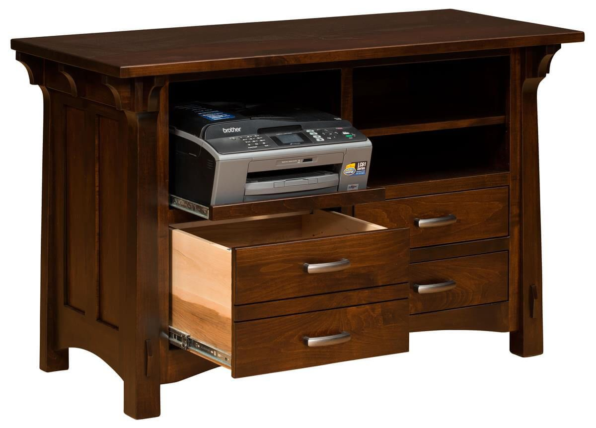 Augustana Printer Stand with Storage opened