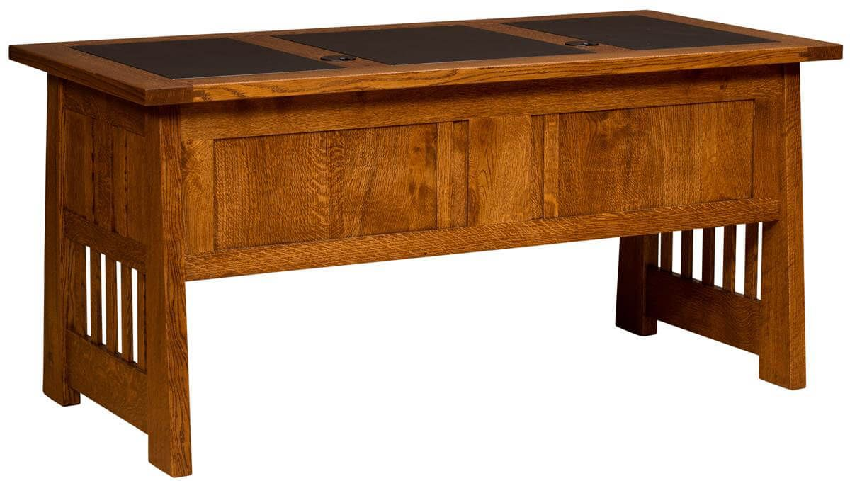 Desk with Leather Inlay