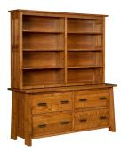 Hartington Executive Lateral File with Hutch
