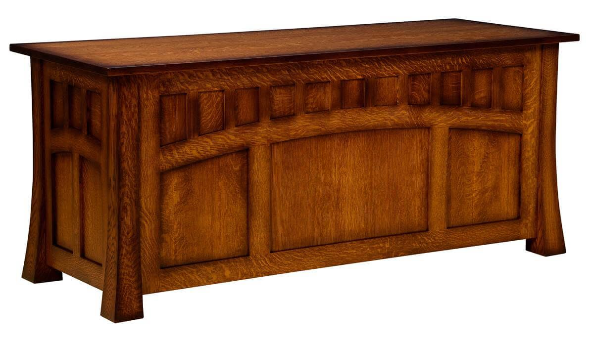 Mission Canyon Executive Desk Back