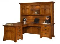 Mission Canyon Executive L-Shaped Desk with Hutch