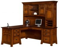 Mission Canyon L-Shaped Desk with Hutch